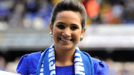 Singing before Ipswich Town took on Coventry City at Portman Road in 2009, Laura has now sung in som