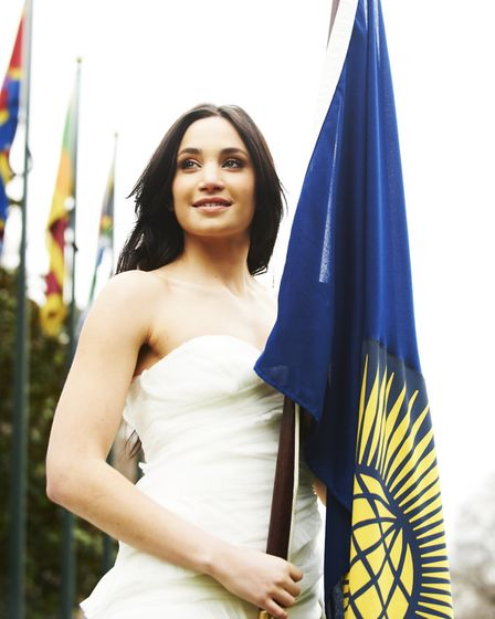 Suffolk opera star Laura Wright has performed the Commonwealth anthem for the Queen Picture: CONTRIB