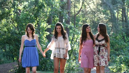 All Angels, with Laura second from left, released three albums together before Laura started solo Pi