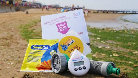 Selection of water saving devices and aids offered by Anglian Water free of charge
