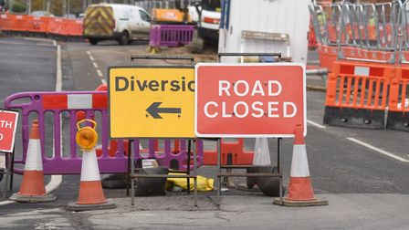 Ipswich Road in Stowmarket will be closed from January 7 Picture: GREGG BROWN