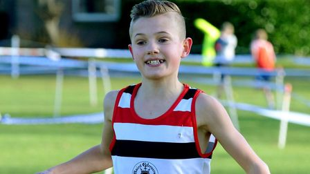 Lewis Sullivan, who won the under-15 boys' race at Culford School. Picture: ANDY ABBOTT