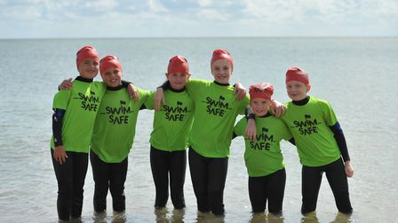 Youngsters learnt how to stay safe in the sea with the RNLI on Dovercourt beach Picture: SARAH LU