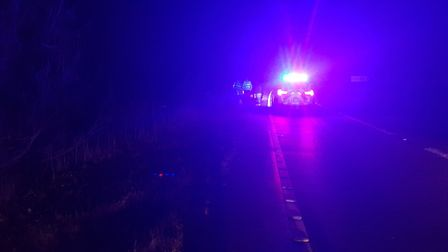 Police were called to the scene late last night Picture: MILDENHALL POLICE