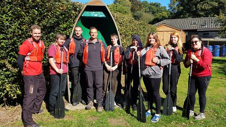 The group on their residential trip with Andy Perrin Picture: INSPIRE SUFFOLK