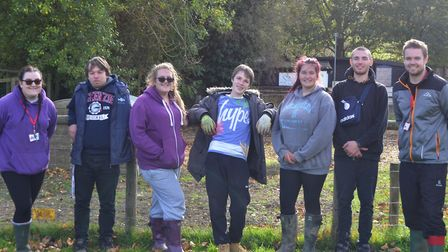 The group at their community project at the Museum of East Anglian Life Picture: INSPIRE SUFFOLK