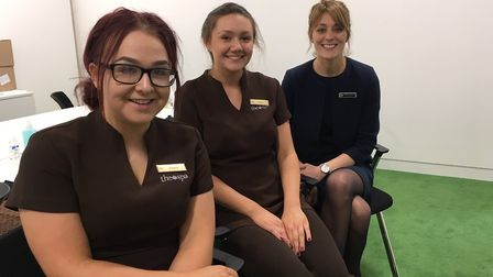 The spa team from Bedford Lodge visited the Archant Suffolk offices to give staff 15 minute therapy