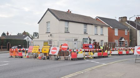Roadworks on Woodbridge Road caused frustration for motorists, homes and businesses in 2017 Picture