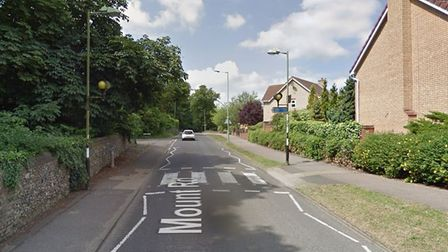 The zebra crossing in Mount Road Bury St Edmunds which the boy attemptedto cycle across Picture: GOO