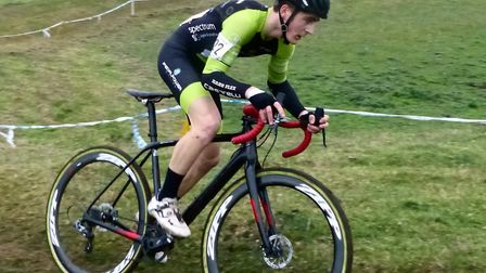 Liam Manser (Pedal Power Ipswich) was a first lap leader at the Stow Scramble. Picture: FERGUS MUIR
