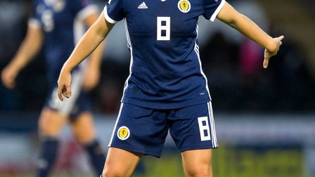 Scotland's Kim Little during their Women's World Cup Qualifying match at St Mirren Park Picture: PA