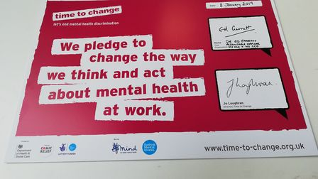 It is hoped that the Time to Change pledge will help reduce work absences due to mental health Pictu