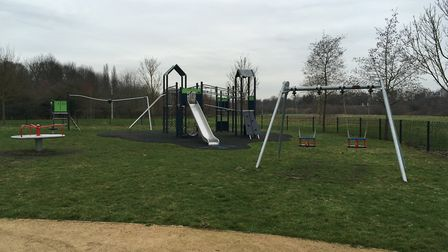 The rest of the play area is still open for people to use Picture: MARIAM GHAEMI
