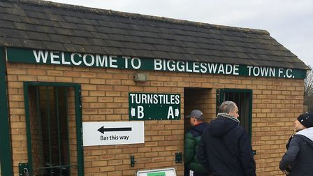 The tunstiles at Langford Road, home of Biggleswade FC. Picture: CARL MARSTON