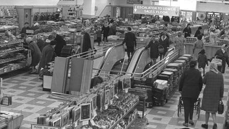 The top floor of Woolworths in Carr Street, Ipswich, in November, 1968. There's even a big weighing