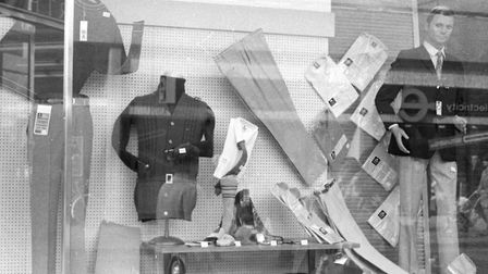 A funky Woolies window display in the spring of 1972 Picture: ARCHANT