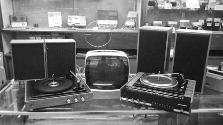 Hi-tech of its age: A home stereo system for sale at Woolworths in December, 1973 Picture: ARCHANT