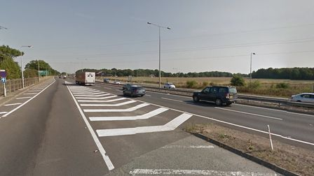 The A12 was the scene of miles of tailbacks this morning Picture: GOOGLE MAPS