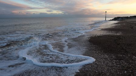 Evening Coastal photograph of the changing tides Picture: GRAHAM MEADOWS