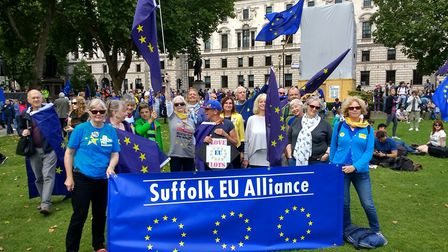 Members of the Suffolk EU Alliance at an event in London last September Picture: PHILIP GOUGH