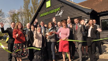 Official opening of the East of England's Co-operative's Sourced Locally flagship store, Darsham Ha