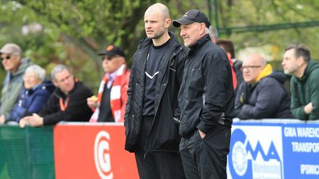 Last season's Walsham le Willows management duo Trevor Newman (left) and Paul Smith. Newman is now b