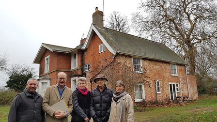 Left to right, Ian Johnson, Michael Gower, Sarah Quinlan, Bob Jackson and Juliet Bullimore outside t