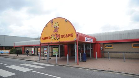 GV of the Namco Funscape building after a planning application has been lodged online to change from