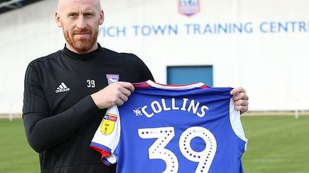Ipswich Town have signed James Collins on a free transfer. Picture: ITFC