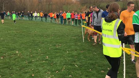 Some of thr 618 finishers at the Bexley parkrun, which held its 362nd event on New Year's Day. Pictu