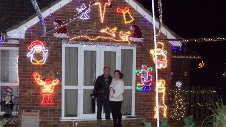 David and Louise Clarke at their home in Ixworth. Picture: LOUISE CLARKE