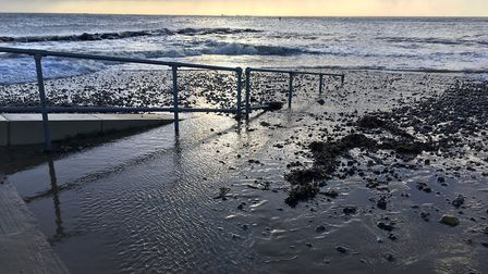 Lowestoft south beach, before the high tides of January 8, 2019. Picture: James Carr