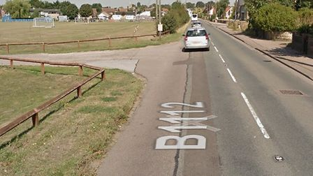 A woman is in a life-threatening condition following a crash in Lakenheath Picture: GOOGLE MAPS