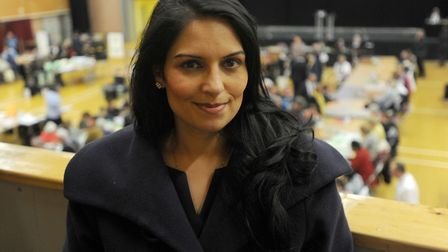 Priti Patel has blamed Colchester council for delaying the widening of the A12 in Essex. Picture: PH