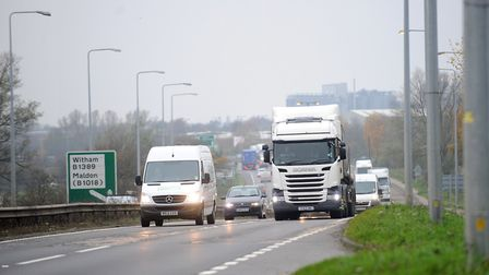 Highways England plans to widen the A12 between Chelmsford and Marks Tey in Essex. Picture: SARAH LU