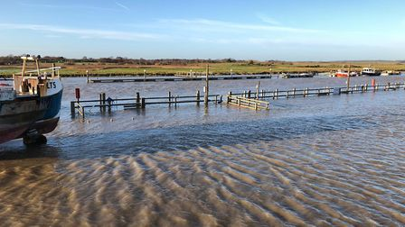 The floods around the Harbour Inn in Southwold Picture: SARAH GROVES, ADNAMS