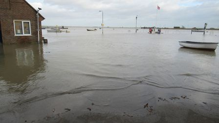 The floods at Orford Quay Picture: DR ROGER R DAWSON