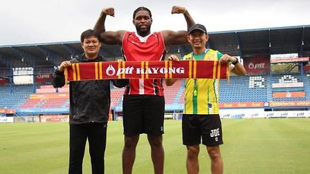Jay Emmanuel-Thomas is looking to rebuild his career in Thailand. Picture: THAILEAGUE/TWITTER