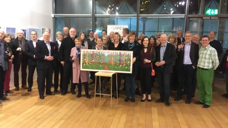 The people who attended a special farewell presentation to Bury in Bloom co-ordinator Melanie Lesser