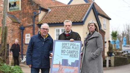 Local residents like Paul Collins, Charles Macdowell and Alison Downes from Theberton and Eastbridg
