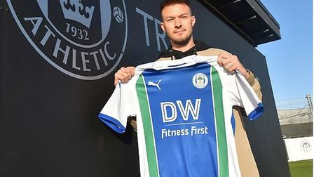 Wigan have confirmed the signing of Anthony Pilkington. Picture: WIGAN ATHLETIC