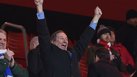 Ian Milne celebrates an away win at Sunderland. Picture: Pagepix