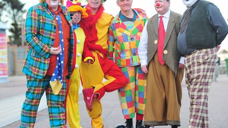 Clowns from around the UK gather in Lowestoft for a week long clown convention. Picture: NICK BUTCHE