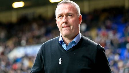 Town manager Paul Lambert pictured ahead of the game. Picture: STEVE WALLER WWW.STEPHENWALLER