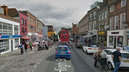The incident happened on High Street in Colchester town centre Picture: GOOGLE MAPS