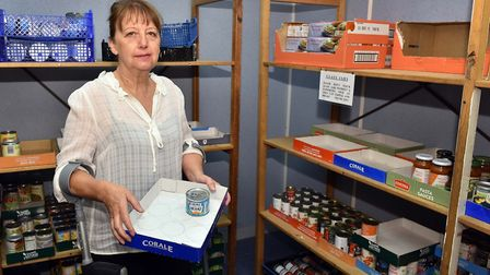 Maureen Reynel MBE at FINDs Ipswich foodbank Picture: JAMES FLETCHER
