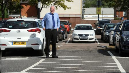 Councillor David Nettleton is pictured in St Andrew's car park in Bury St Edmunds Picture: PHIL MORL