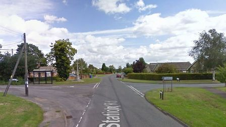 Station Road in Bentley where the roadworks are taking place. Picture: GOOGLE MAPS