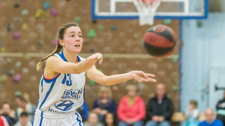 Ipswich captain Amy Linton had her best game of the season. Photo: PAVEL KRICKA