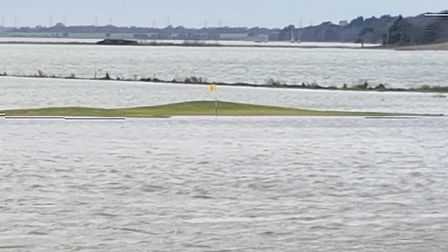 The nine-hole River Course at Aldeburgh lived up to its name last week when a very high tide saw the